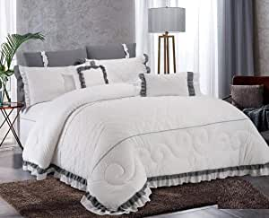Double Comforter 8Pcs Set By Hours, King Size,polly-01
