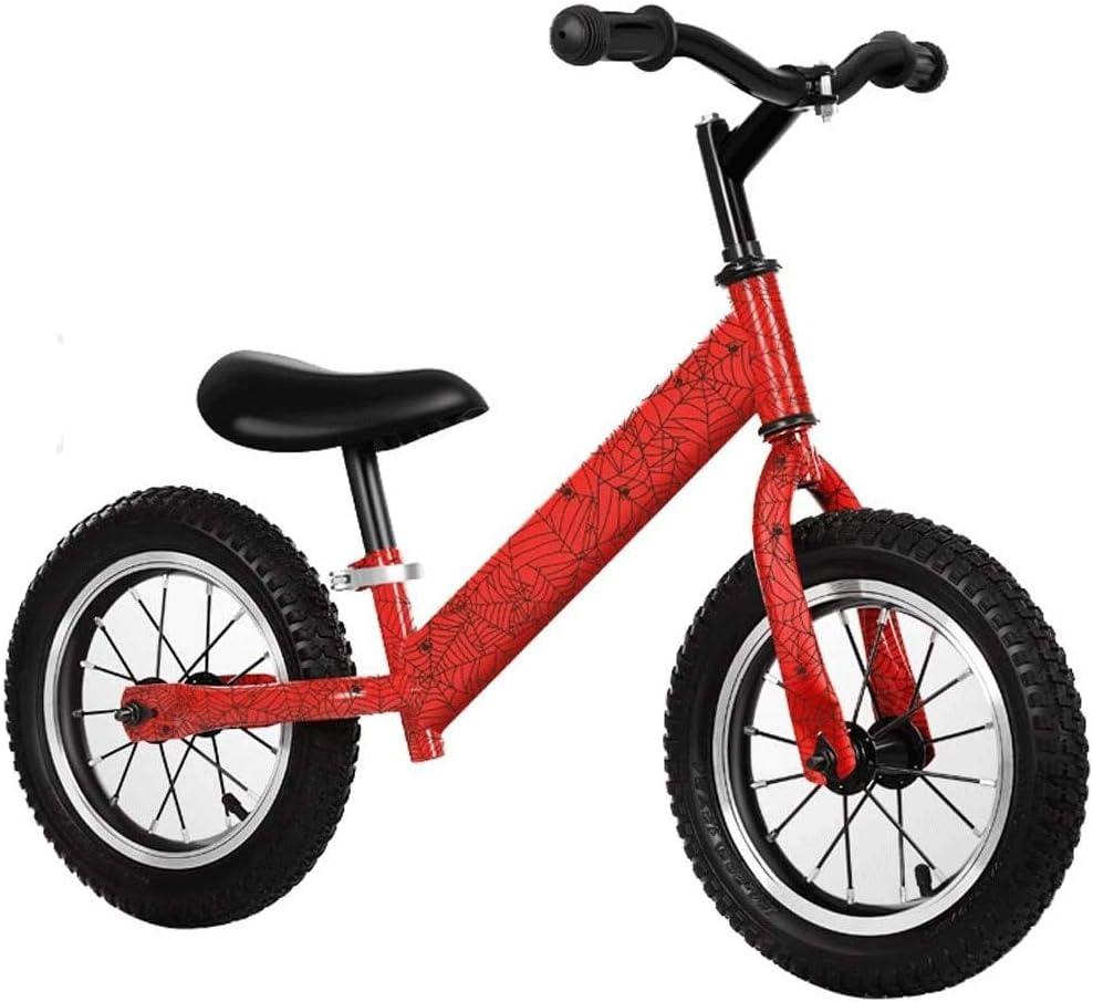 """12"""" バランスバイクカーボンスチールフレームなしペダルウォーキングバランスバイクトレーニング自転車用子供や幼児2〜6歳 (Color : C)"""