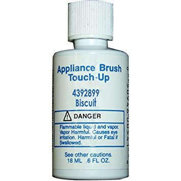 Whirlpool 4392899 Appliance Brush On Touch-Up Paint (Biscuit color ...