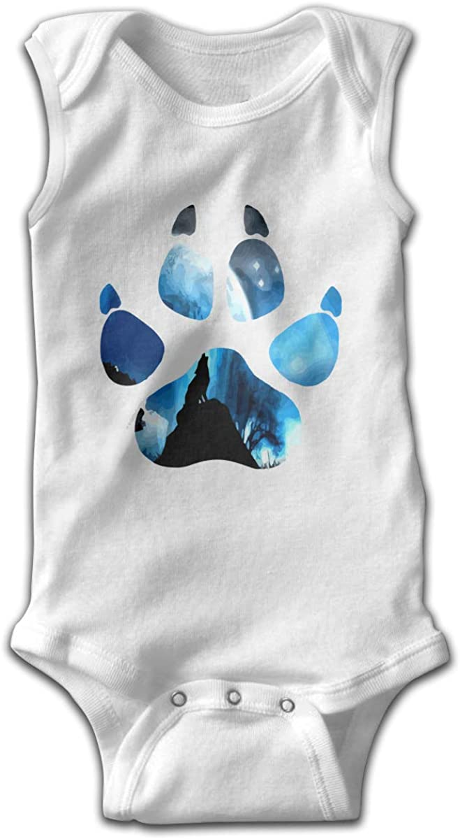 Wolf Paw Galaxy Dusk Wolf Onesies Romper as picture18 Months