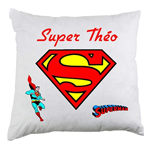 Genérico Funda de cojín Personalizada Superman con Nombre de ...