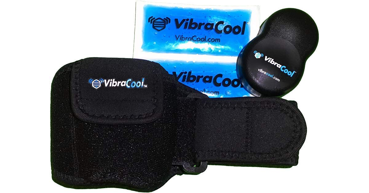 VibraCool® Cryotherapy | Oscillice Technology - Intense Mechanical Oscillation & Ice | Intense Pain Relief for Elbows & Wrists, Easy-Fit D-Ring by VibraCool