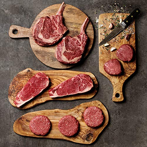 Grass-Fed Gourmet Greats Filet Mignons, Bone-in Ribeyes, New York Strips and Burgers - Overnight Shipping Monday-Thursday