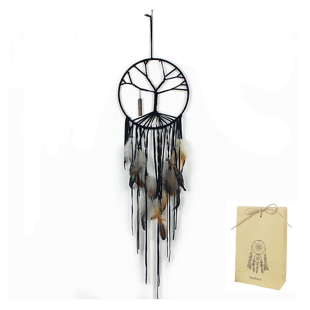 The Tree of Life Dream Catcher for Kids Bedroom Beautiful Feather Hanging Large Dreamcatcher