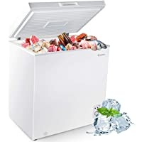 MOOSOO Chest Freezer 5.0 Cubic Feet, Deep Compact Freezer with Removable Basket, Temperature Control, Low Noise & Energy…