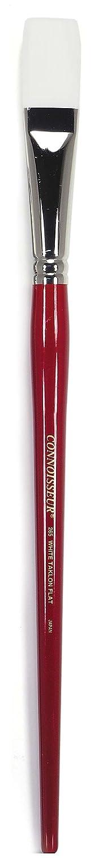 Connoisseur DCL6314PA White Taklon All Media Brush 1 Filbert