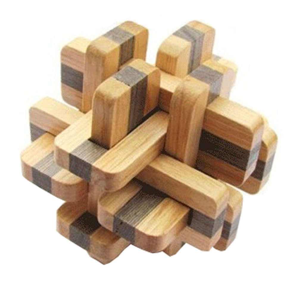 2 PCS Challenging Wood Brain Teaser Puzzle Disentanglement Puzzles, Style 17 PANDA SUPERSTORE PS-TOY166405011-ARIEL00718