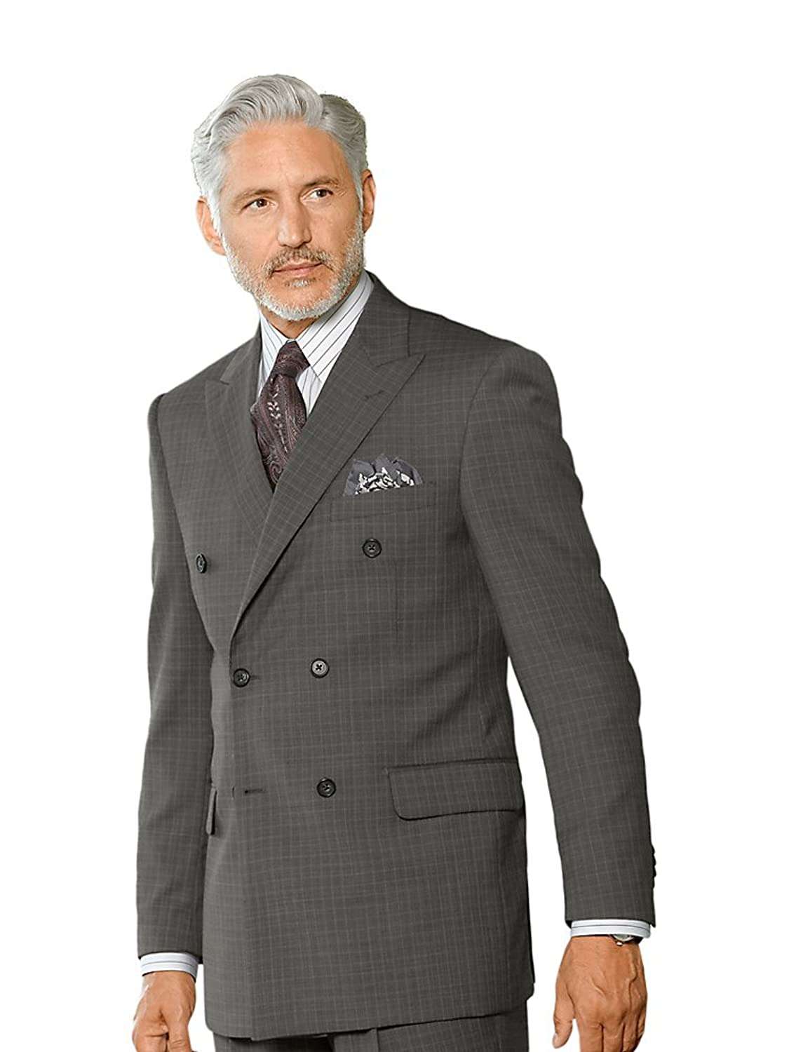 1930s Style Mens Suits Paul Fredrick Mens Super 100s Wool Textured Suit Jacket $254.95 AT vintagedancer.com
