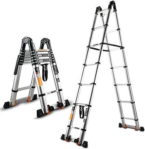 ZR- Escalera Telescópica Multifunción, Elevador Aleación Aluminio, Escalera Ingeniería, Escalera Recta Plegable, Escalera Articulada, Espiga Escalera -Fácil de almacenar y fácil de llevar: Amazon.es: Hogar