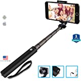 Zaap Nustar4 Extendable Aluminium Monopod Battery Free In-Built Remote Shutter Selfie Stick (Medium)