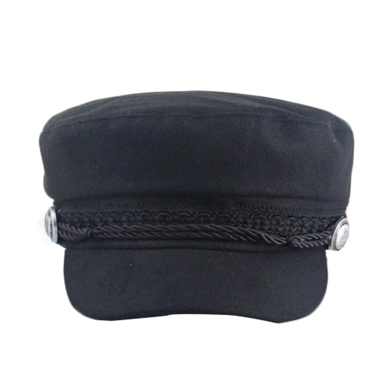 Berets Hats for Women Octagonal Cap Wool Button Baseball Caps Sun Visor Hat Female Streetwear Rope Flat Cap