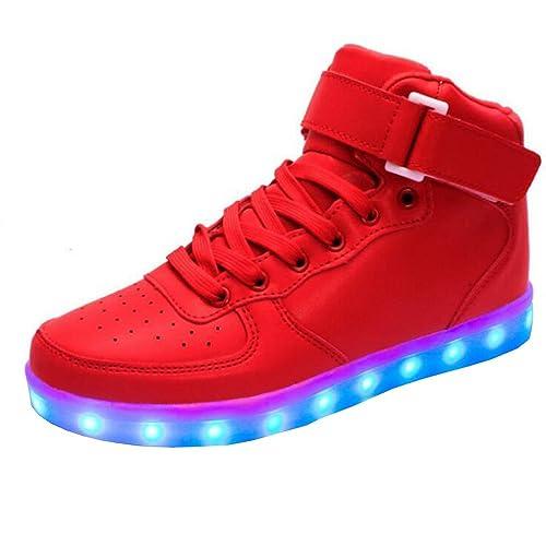 b4dd6a7ce87 KINDOYO LED Zapatos Color USB Carga Deportivas De Luces Zapatillas Unisex Hombres  Mujeres  Amazon.es  Zapatos y complementos