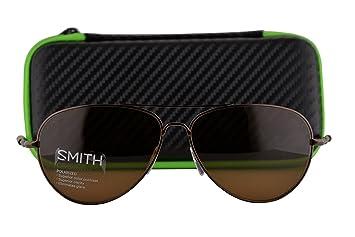 ce8d749c58 Image Unavailable. Image not available for. Colour  Smith Audible  Sunglasses Matte Brown w Polarized ChromaPop Brown Lens TRF