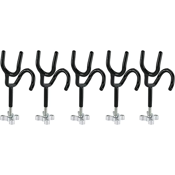 """6 Fishing rod holders coated 45 degree with 3/"""" stems  and 4-screw bases"""