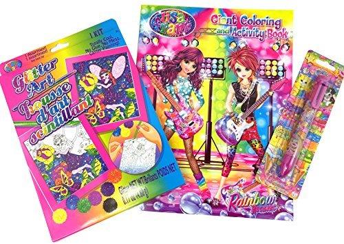 la calidad primero los consumidores primero Lisa Lisa Lisa Frank Bundle - 3 Items  1 Rainbow Rockers Coloring and Activity Book, 1 Fairy Glitter Art Kit, and 1 Six Color Pen by Lisa Frank  descuento de ventas en línea