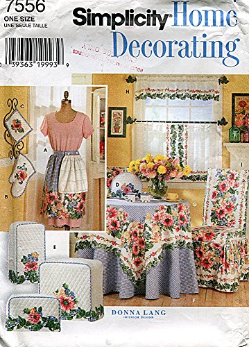 - Simplicity Home Decorating Pattern 7556 Kitchen Accessories by Donna Lang