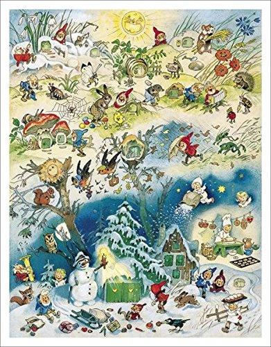 Adventskalender - Vier Jahreszeiten: Adventskalender zum Aufhängen. 43 x 55 cm.