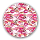 Uneekee Tropical Paradise Lazy Susan: Large, pure birch wooden Turntable Kitchen Storage