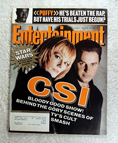 Csi Crime Scene Investigation 2001 - Marge Helgenberger & William Peterson (Catherine Willows & Gil Grissom) - CSI (Las Vegas) - Behind the Gory Scenes of TV's Cult Smash - Entertainment Weekly - #589 - March 30, 2001
