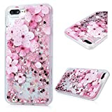 iPhone 7 Plus Case, Liquid Glitter Case Bling Shiny Sparkle Flowing Moving Love Hearts Cover Clear Ultral Slim Protective TPU Bumper Shockproof Drop Resistant Protective Case for iPhone 8 Plus KASOS