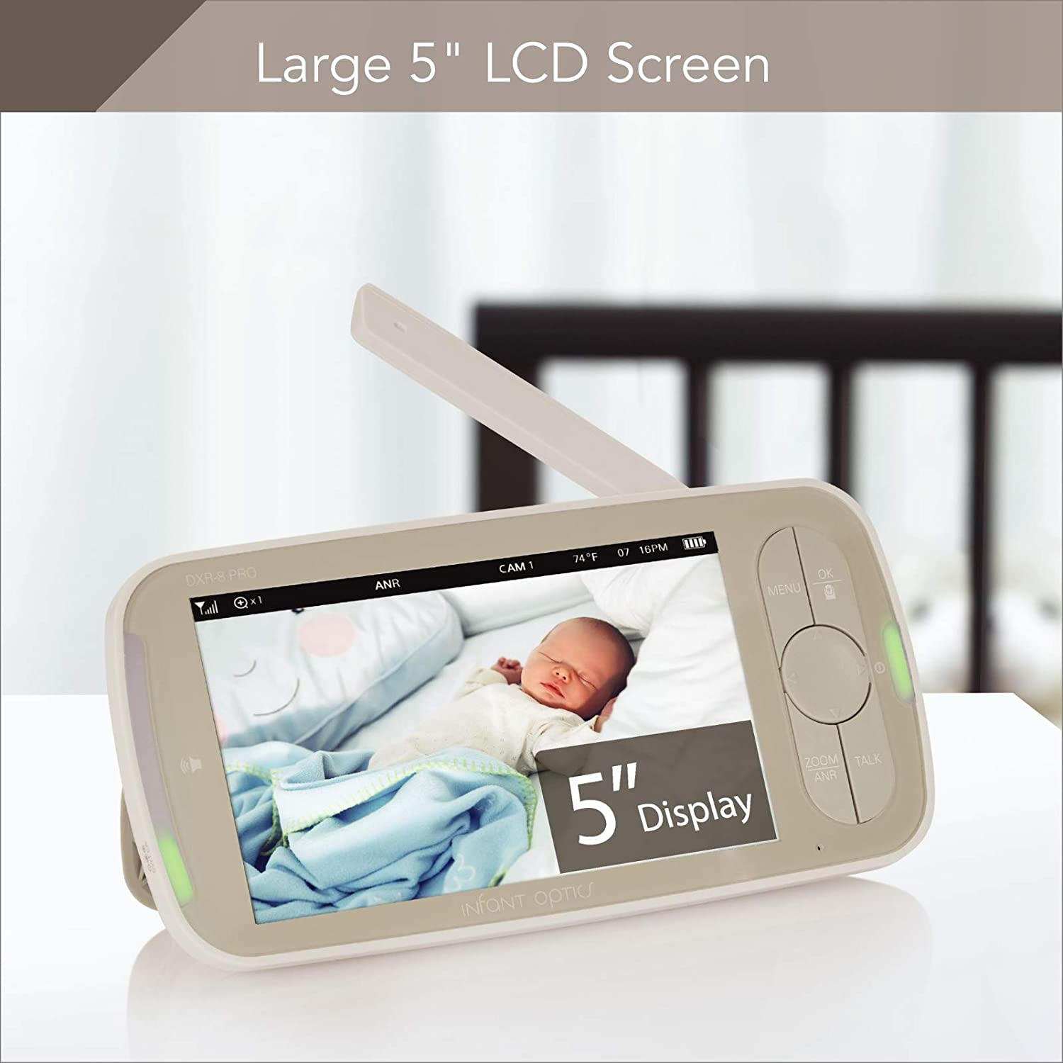 Resolution 720P Infant Optics DXR-8 PRO Baby Monitor with 5 Screen and ANR HD