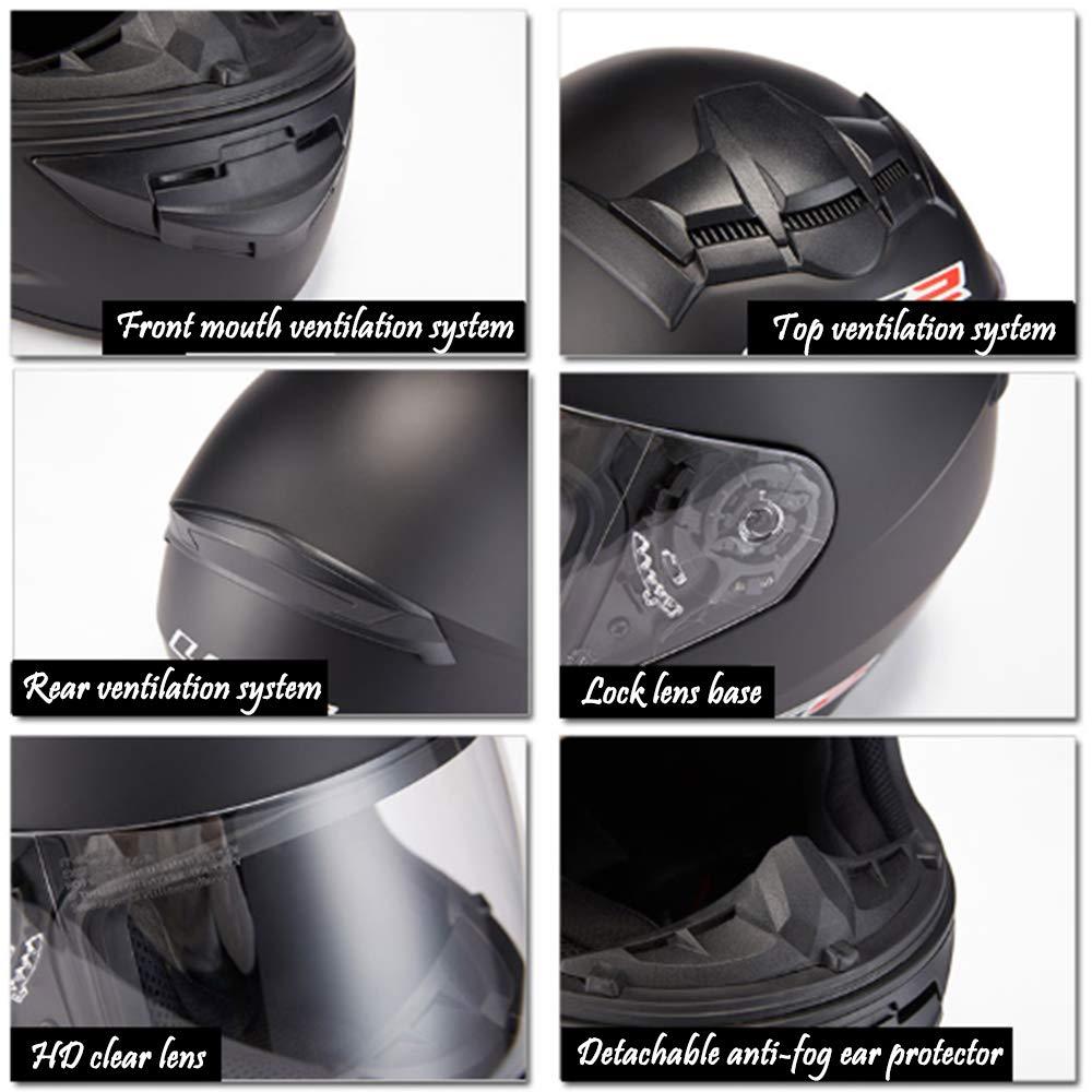 ZY Casco Integrale da Motociclista Anti-Urto Maschera di Protezione per La Testa Traspirante E Confortevole Arancione Bianco Speciale