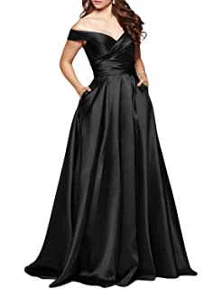 6a44b116 Scarisee Long Off Shoulder Prom Evening Dress Pocket Formal Bridesmaid  GownSA31