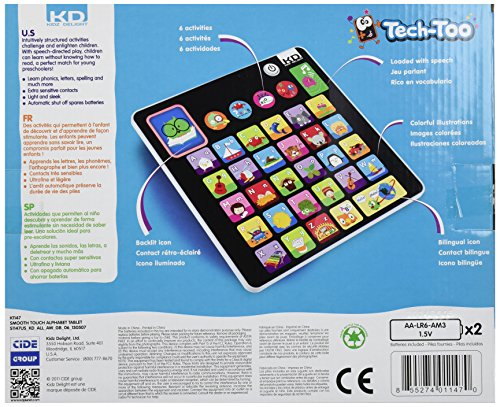 Kidz Delight Smooth Touch Tablet, Alphabet