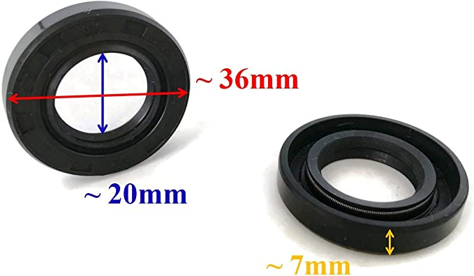 2x CRANKCASE OIL SEAL SEALS 93101-20M29 20M24 fit Yamaha Outboard 3HP 15HP 2T
