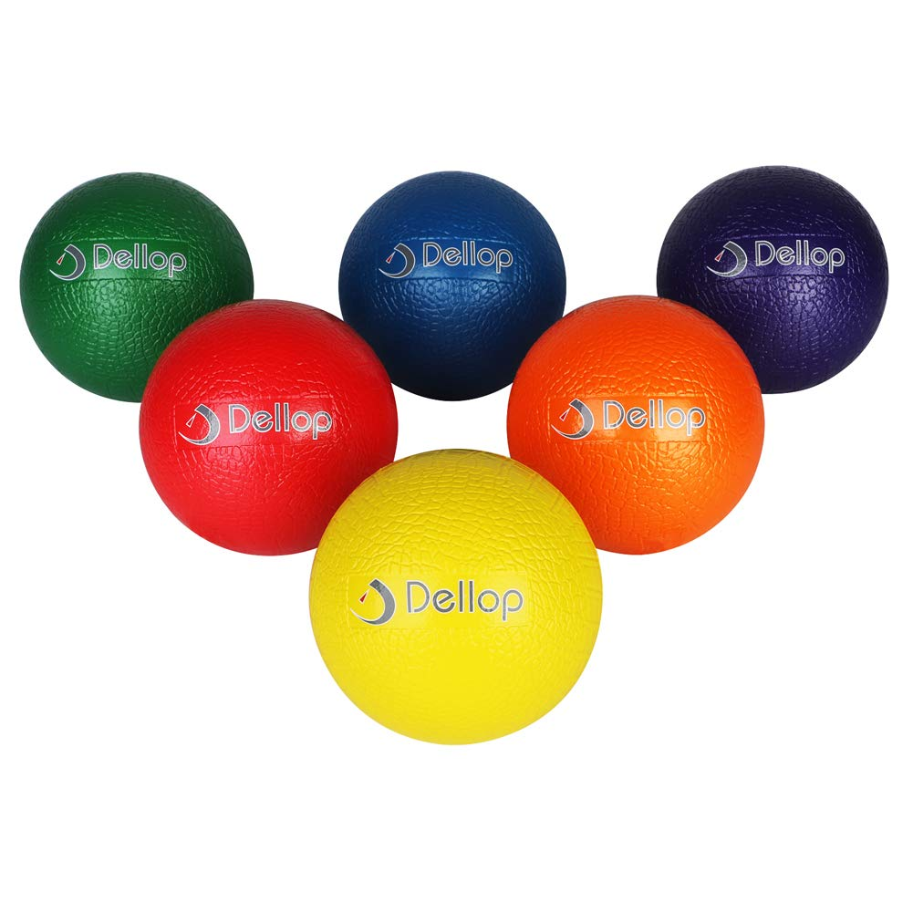 Dellop Crocodile Surface Dodgeball Set Playground Balls with Mesh Storage Bag Free Sting 6 Packs by Dellop