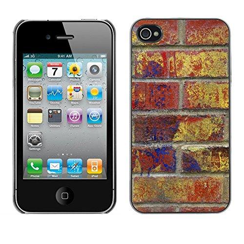 Premio Sottile Slim Cassa Custodia Case Cover Shell // V00002293 Graffiti Urban // Apple iPhone 4 4S 4G