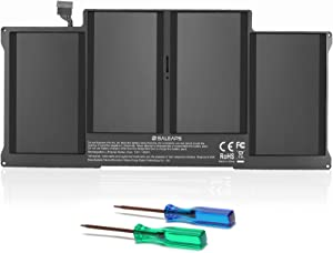Saleaps A1405 A1466 Laptop Battery - Replacement for MacBook Air 13 inch 2017, Early 2015 Early 2014 Mid 2013 Mid 2012 Mid 2011 Late 2010 7000mAh/7.6V, Fit A1496 A1377 A1369 Notebook