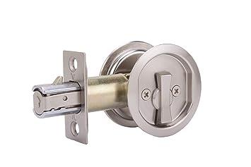 Weslock 677 redonda privacidad puerta corrediza de bolsillo cerradura,: Amazon.es: Bricolaje y herramientas