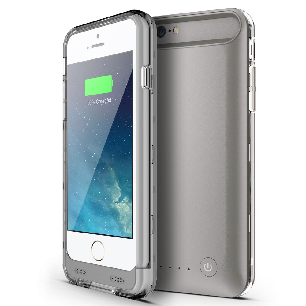 Niubity Apple MFi Certified 4000mah Li-Polymer Rechargeable Battery Case for Apple iPhone 6 Plus / 6s Plus - Gray