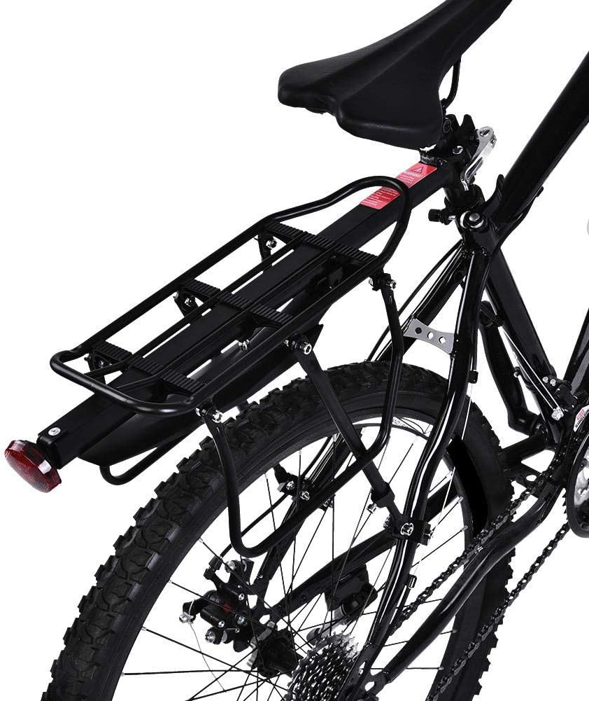 Cycling Bicycle Bike Seat Post Rear Carrier Cargo Rack Adjustable Black