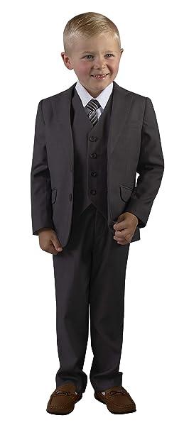 Amazon.com: Traje de ajuste delgado para niños de color gris ...