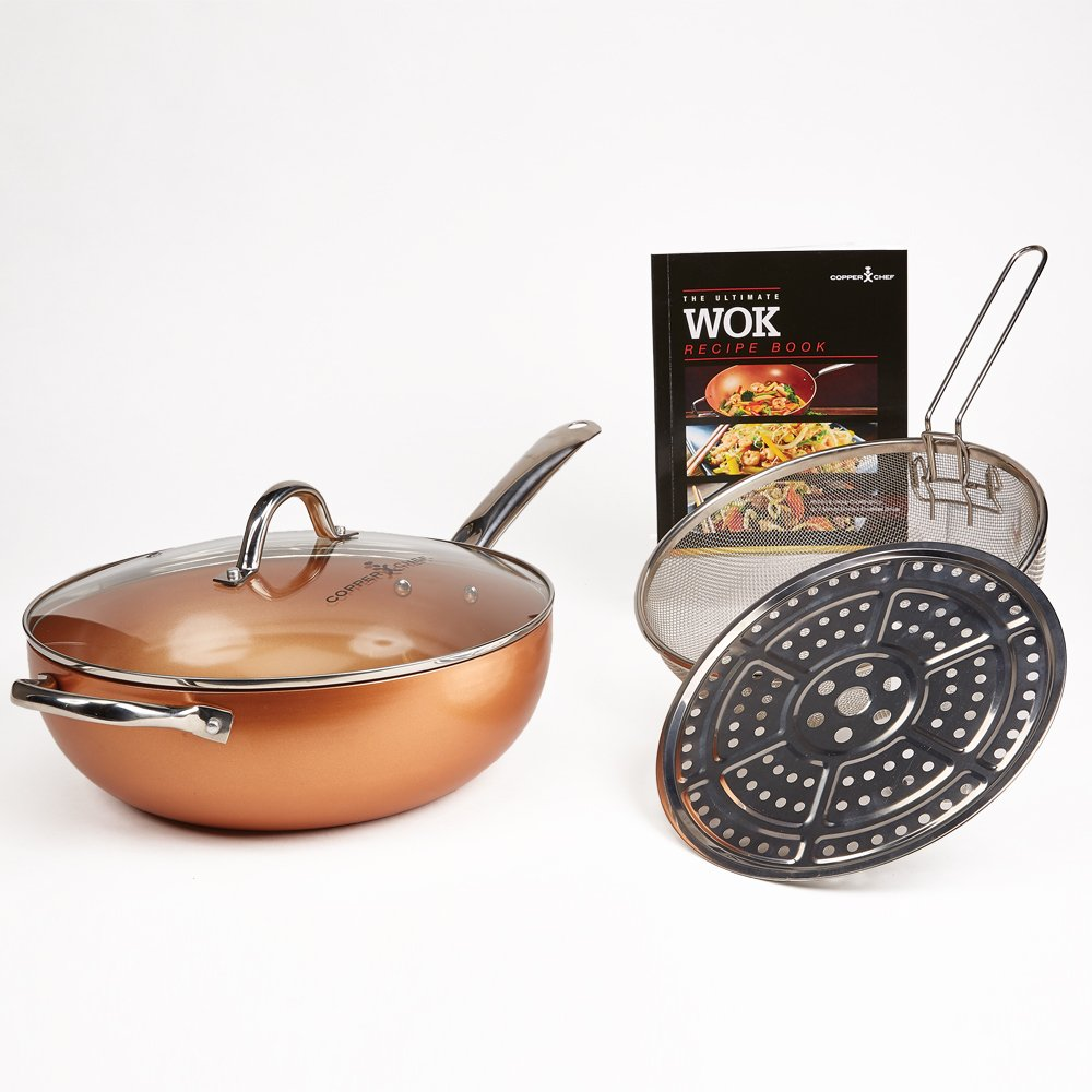 Copper Chef Wok 12'' 4 Piece Set