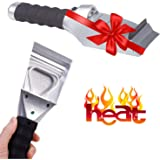 Heated Snow Ice Scraper for Car - Electric Heated Auto Windshield Window Ice Scrapers with Flashlight and Squeegee for…