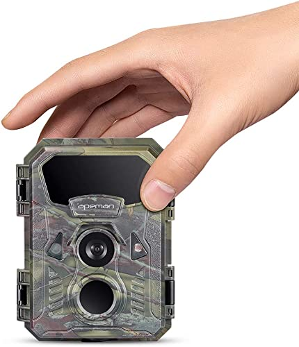 APEMAN Mini Trail Camera 16MP 1080P Waterproof Night Vision Game Camera
