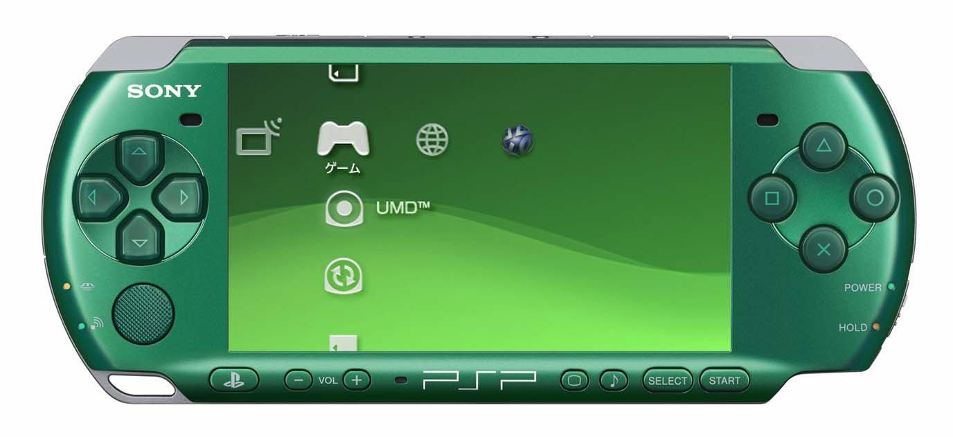 PSP Playstation Portable Spirited Green Psp-3000sg