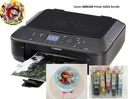 Comestible Impresora Bundle- Canon MG5520 con tintas ...