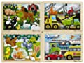Melissa Doug Deluxe Fresh Start Jigsaw Puzzle Bundle 12 Piece Set Of 4 by Melissa & Doug