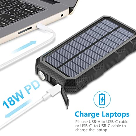 Amazon.com: Cargador solar de 26800 mAh Hiluckey 18W Power ...