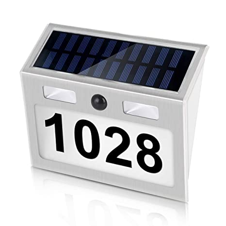 magasin nouveau pas cher magasiner pour authentique Amazon.com: LXT PANDA Solar Door Plaque Light, LED Outdoor ...