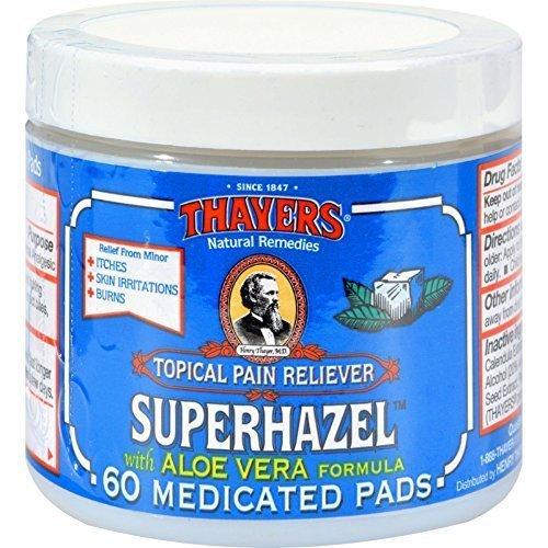 THAYERS WITCH HAZEL,MEDICATD PADS, 60 PADS