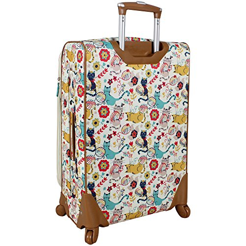 Lily Bloom Luggage 24'' Expandable Design Pattern Suitcase With Spinner Wheels For Woman (24in, Furry Friends) by Lily Bloom (Image #3)