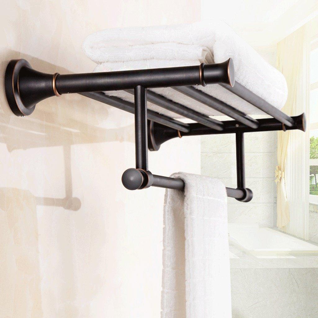 壁掛けのバスルームタオルラック すべての種類の銅タオルラックタオルラックヨーロッパのアンティークバスルームラックバスルームハードウェアペンダントスイート B07FHZ95QT