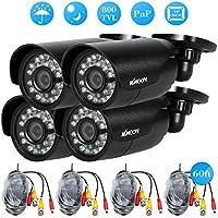 KKmoon 4pcs 800TVL CCTV Outdoor Camera Set IR CUT Bullet Video Surveillance 3.6mm