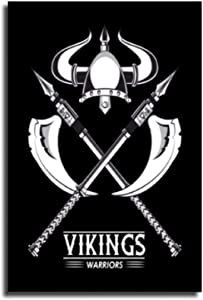 YuFeng_Art_Inn Viking Warrior Symbol Rune Canvas Painting Norse Mythology Poster Canvas Art Poster and Wall Art Picture Print Modern Family Bedroom Decor Posters 12×18inch(30×45cm)