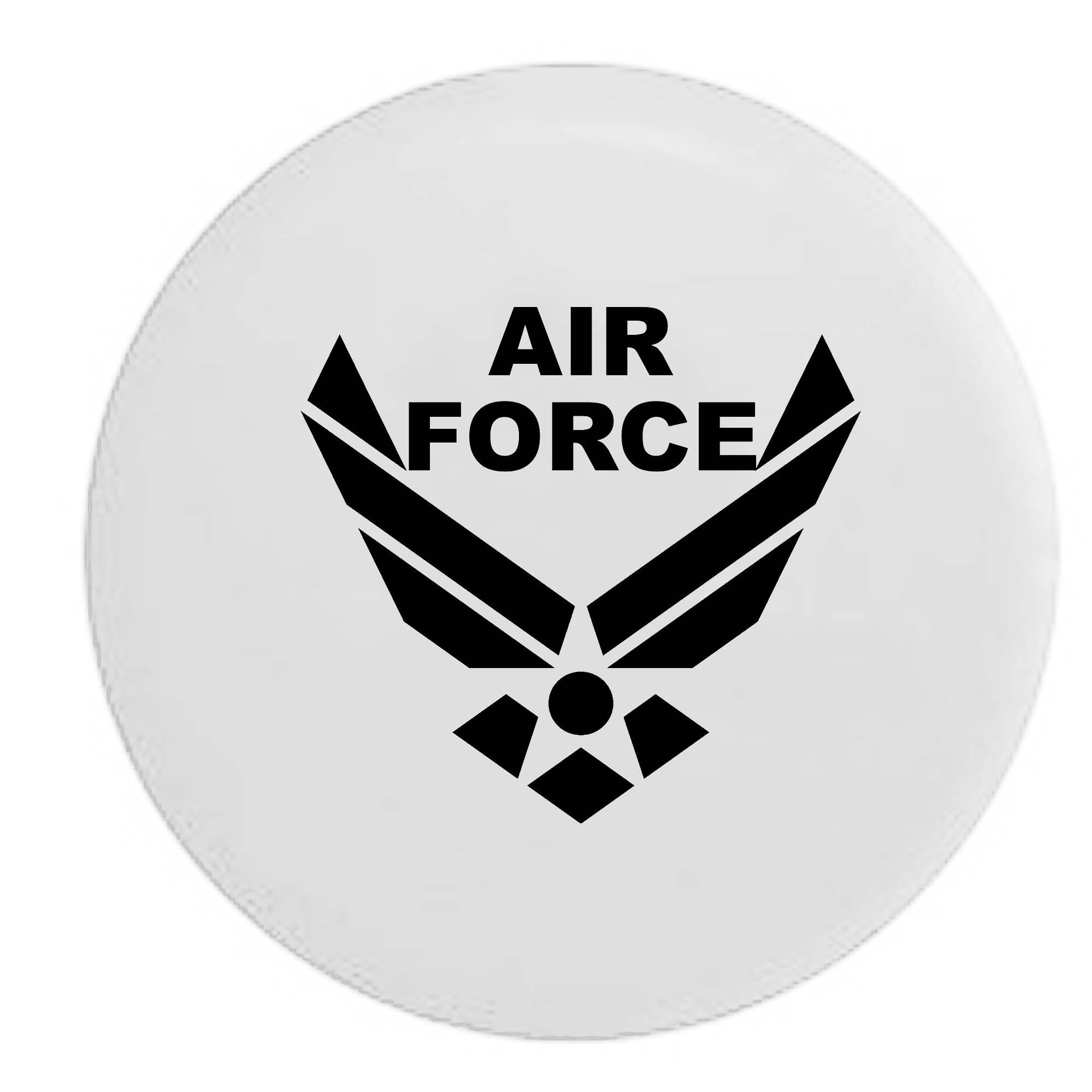 Pike USAF Air Force Military Trailer RV Spare Tire Cover OEM Vinyl White 29 in